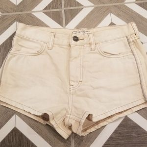 Free People Denim Shorts Tan Shorts Size 26 Boho